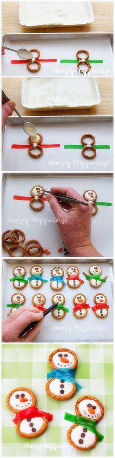 Frosty Snowman Pretzels - Joybx