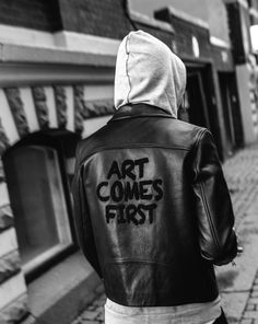 theclassyissue: Art Come First Leather Jacket theclassyshop.com