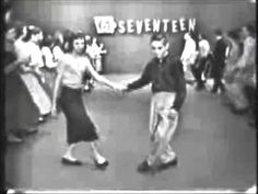 The Original Stroll - February 1958. Sad teenagers dancing on television.