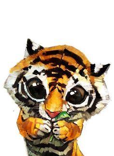 тигр, тигренок #тигр #tiger #cute #little #тигренок #мило