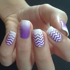 Skinny Zig Zag Tape for Nail Art, Chevron Stickers for Nails, Nail Vinyls - Medium (240 Strips) : Beauty