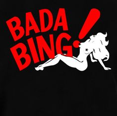 Bada Bing Strip Club Silhouette Sopranos Crew Neck Graphic T-Shirt. On Sale now and on Clearance. Price won't last long. Be a part of the most popular TV Show Sopranos and grab this shirt.