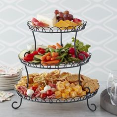 Wilton Customizable Iron Treat Stand, Image 1 of 7 Thanksgiving Appetizers, Thanksgiving Recipes, Christmas Recipes, Elegant Desserts, Elegant Appetizers, Wedding Appetizers, Dessert Stand, Quick Recipes, Detox Recipes