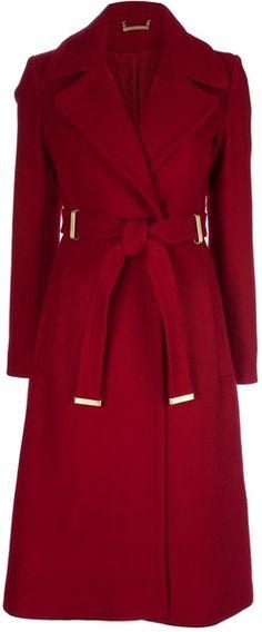 Diane Von Furstenerg Belted Coat   dressmesweetiedarling