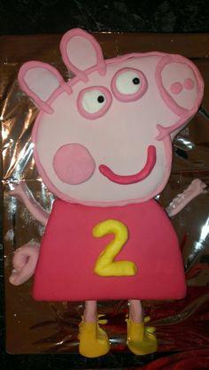 A Peppa Pig Cake! Too easy!