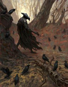 ArtStation - The Crow King, Karl Wennergren Dark Fantasy, Fantasy Magic, Fantasy Art, Crow Art, Raven Art, Dark Souls, Blackbird Singing, Quoth The Raven, Arte Obscura