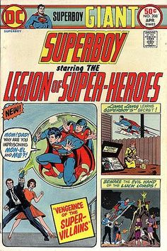 Superboy and the Legion of Super-Heroes #208. 100 pages. #Superboy #LegionOfSuperHeroes