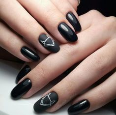 Beautiful nail art designs that are just too cute to resist. It's time to try out something new with your nail art. Dark Nails, Matte Nails, Acrylic Nails, Fox Nails, Nagellack Design, Manicure E Pedicure, Gel Manicures, Nail Nail, Nail Polish