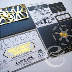 Star Wars Wedding Invitation / Invitación de Boda Star Wars Un dia Genial Para Siempre #Creativorubenchacon #invitation https://www.instagram.com/creativorubenchacon