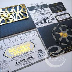 Star Wars Wedding Invitation / Invitación de Boda Star Wars Un dia Genial Para Siempre #Creativorubenchacon #invitation https://www.instagram.com/creativorubenchacon