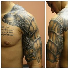 armor+tattoo | Strong arms and armor tattoos