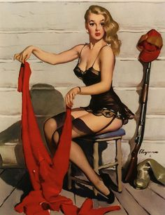 Who … Me? by Gil Elvgren (Brown & Bigelow, 1952) www.stores.eBay.com/GrapefruitMoonGallery