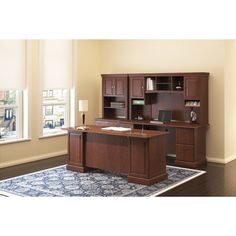 Found it at Wayfair - Syndicate Double Pedestal Office Desk with Hutch and Lateral File