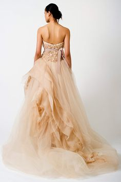 Vera Wang Bridal Fall 2010. Meghan needs a champagne or blush gown!