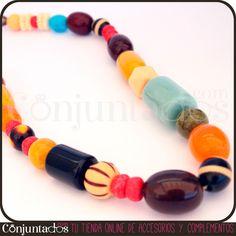 Collar Tanzania de cuentas multicolores: Turquesa, amarillo, mostaza, verde, coral... Los colores más alegres se suceden en forma de cuentas de diferentes tamaños en el collar Tanzania de cuentas multicolores. ¡El complemento ideal para tus modelitos playeros y vacacionales! http://www.conjuntados.com/collares/collar-tanzania-de-cuentas-multicolores.html #necklaces #fashion #accesorios #complementos #bisuteria #jewelry #bijoux #shopping #trendy #tendances #moda #estilo #style #PymesUnidas
