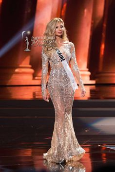 MISS UNIVERSE 2015 :: PRELIMINARY EVENING GOWN COMPETITION | Anna Vergelskaya, Miss Universe Ukraine 2015, competes on stage in her evening gown during The 2015 MISS UNIVERSE® Preliminary Show at Planet Hollywood Resort & Casino Wednesday, December 16, 2015. #MissUniverse2015 #MissUniverso2015 #MissUkraine #MissUcrania #AnnaVergelskaya #PreliminaryCompetition #EveningGown #LasVegas #Nevada