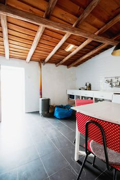 Albernôa - Beja (Alentejo) - Portugal. Cozinha da casa na aldeia. Casinha típica para férias.