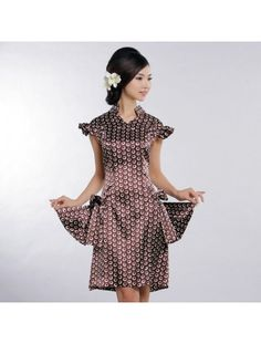 9ff5a594efaa Coffee viscose cheongsam dress is made of special materials