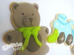 Galleta de oso de peluche para babyshower