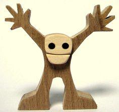 """figurine bois chantourné """"content de vous voir"""""""