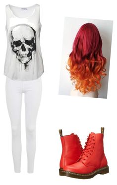 """""""Punk Pop"""" by rachelsong1848 on Polyvore featuring Topshop and Dr. Martens"""