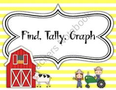Down on the Farm Find, Tally, Graph! FREEBIE from The Primary Gal on TeachersNotebook.com (7 pages)