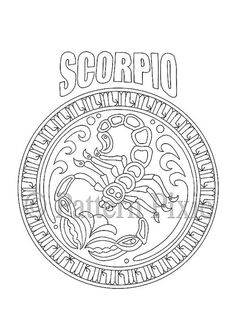 This Zodiac design for Scorpio is going to be great for adults to colour! Nice to use as gifts - you could even print onto card and colour in especially for that someone special celebrating a birthday :) Watch this space - there will be more to come! This item consists of one file that is instantly downloadable as a PDF or JPEG at high resolution (300 dpi). The printed page is in A4 size, measuring 297 mm x 210 mm (11.69 inch x 8.27 inch). Print onto your choice of paper or card and colour…