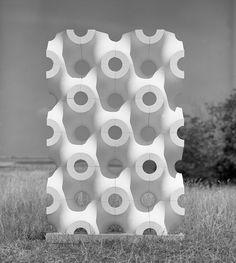 Walter Zeischegg / Wall Of Lattice-Oriented Elements Modern Sculpture, Abstract Sculpture, Facade Design, Tile Design, 3d Pattern, Parametric Design, Bathroom Design Luxury, Modular Design, Textures Patterns