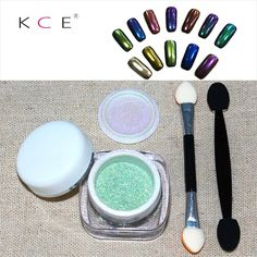 2016 Fashion 2g/Box+ Brush Gold Sliver Nail Art Mirror Powder Effect Shinning Shadow Makeup Dust Chrome Pigment Set Kit Manicure