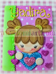 .... Correo: fomiartmexico@gmail.com Fun Diy Crafts, Fun Crafts For Kids, Foam Crafts, Diy For Kids, Arts And Crafts, Cute Notebooks, Art Plastique, Flower Crafts, Craft Fairs