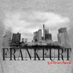 Frankfurt by L'Horizon Apparel - Männer Slim Fit T-Shirt