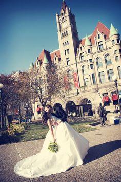 Love, love, LOVE this picture!! #TheLandmarkCenter #weddingphotographerminnesota
