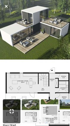 Ideas Shipping Container Homes Plans Layout Ideas Tiny House for Contein. - Ideas Shipping Container Homes Plans Layout Ideas Tiny House for Conteiner house in 45 Shipping Container Home Designs, Container House Design, Tiny House Design, Modern House Design, Shipping Containers, Shipping Container Design, Village House Design, House Design Plans, Shipping Container Workshop