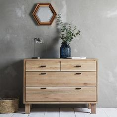 Scandinavian Oak Furniture range by Hudson Living. Shop for Hudson Living Scandinavian oak bedroom, dining & living collection at stockists price from CFS outlet & online. Chest Of Drawers Design, Bedroom Chest Of Drawers, Drawer Design, Dresser As Nightstand, Chest Of Drawers Decor, Oak Dresser, Wardrobe Drawers, Interior Desing, Wood Chest