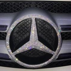 Bling Mercedes Benz LOGOFront Grille Emblem Made w/ Rhinestone Crystals