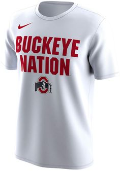 Nike Ohio State Buckeyes Mens White Bench Legend Short Sleeve T Shirt