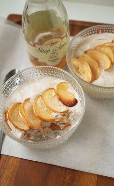 Kissoja & Kasvisruokaa: Baked apple and coconut mousse for two. #vegan