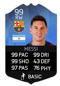 99 messi card - Google Search