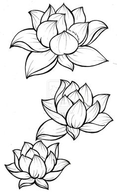Lotus Blossom Tattoo by Metacharis.devian… on Lotus Blossom Tattoo by Metacharis. Kunst Tattoos, Tattoo Drawings, Body Art Tattoos, Tattoo Art, Tatoos, Tattoo Ribs, Ship Tattoos, Calf Tattoo, Outline Drawings
