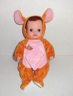 1990 Lauer Water Babies Baby Doll KANGA & Roo Winnie the Pooh Kangaroo #dolls