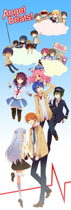 <3 Angel Beats! this is such a great anime. I totally recommend someone watch this