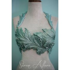 A gorgeous hand crafted silicone sea weed top with beaded accents. Mermaid Top, The Little Mermaid, Mermaid Swimsuit, Costume Makeup, Cosplay Costumes, Woman Costumes, Group Costumes, Adult Costumes, Halloween Costumes