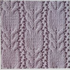 Mesh and cable knitting pattern scarf - Knitting Kingdom