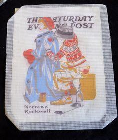 Needlepoint Stitch Kit NORMAN ROCKWELL'S The Saturday Evening Post Unstarted #Unbranded