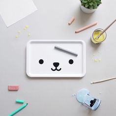 Our bear tray & cloud tumblers are not just for food... amazingly versatile, we're using it for a rainy Friday crafting ☁️ #giftideas