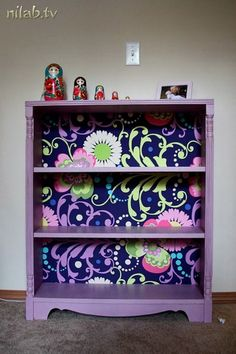 Nice bookshelf...converted into boho- styled by DIY!!