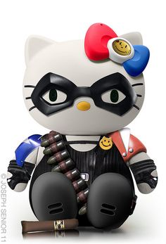 Illustrator Joseph Senior came up with tons of different Hello Kitty designs inspired by pop culture. Sanrio, Hello Kitty Characters, Pochacco, Hello Kitty Items, Miss Kitty, Hello Kitty Collection, Here Kitty Kitty, Say Hello, Illustrations Posters