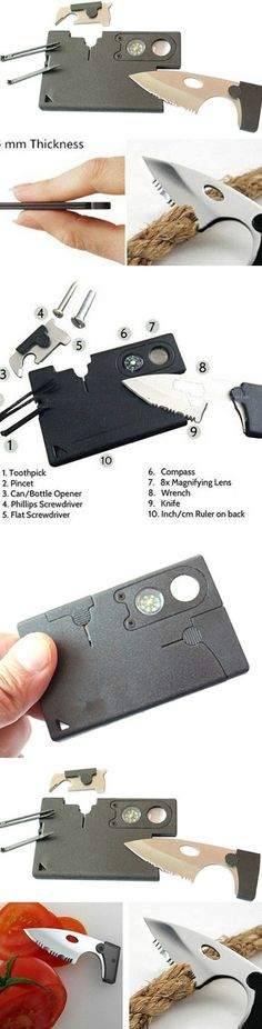 Survival Card 10 in 1 Multitool Emergency Survival Companion! Click The Image To Buy It Now or Tag Someone You Want To Buy This For. #Camping