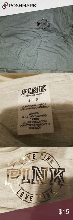 NWOT PINK VS SUPER SOFT TEE Love this fabric! Very aoft and stretchy. i am large and it fits me snug:) No stains pilling or rips. PINK Victoria's Secret Tops Tees - Long Sleeve