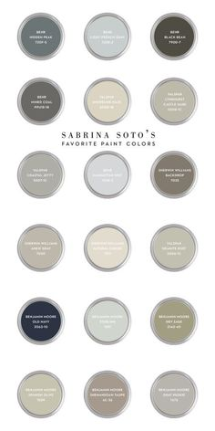 Sabrina Soto's Favorite Paint Colors and tips about sheen finishes (via CASA & Company) Room Colors, Wall Colors, House Colors, Interior Paint Colors, Paint Colors For Home, Paint Colours, Magnolia Paint Colors, Sabrina Soto, Favorite Paint Colors